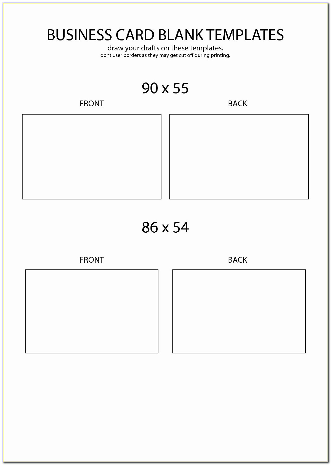 Playing Card Template Word