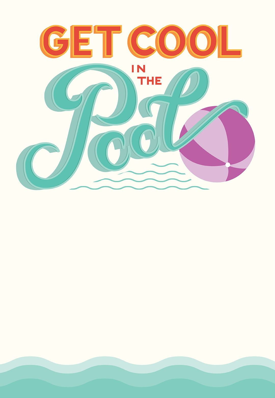 Pool Party Party Invitation Template Free