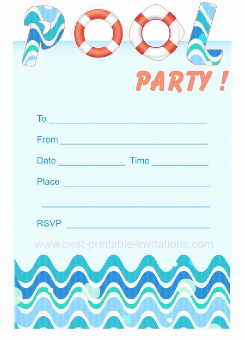 Pool Party Invite Template