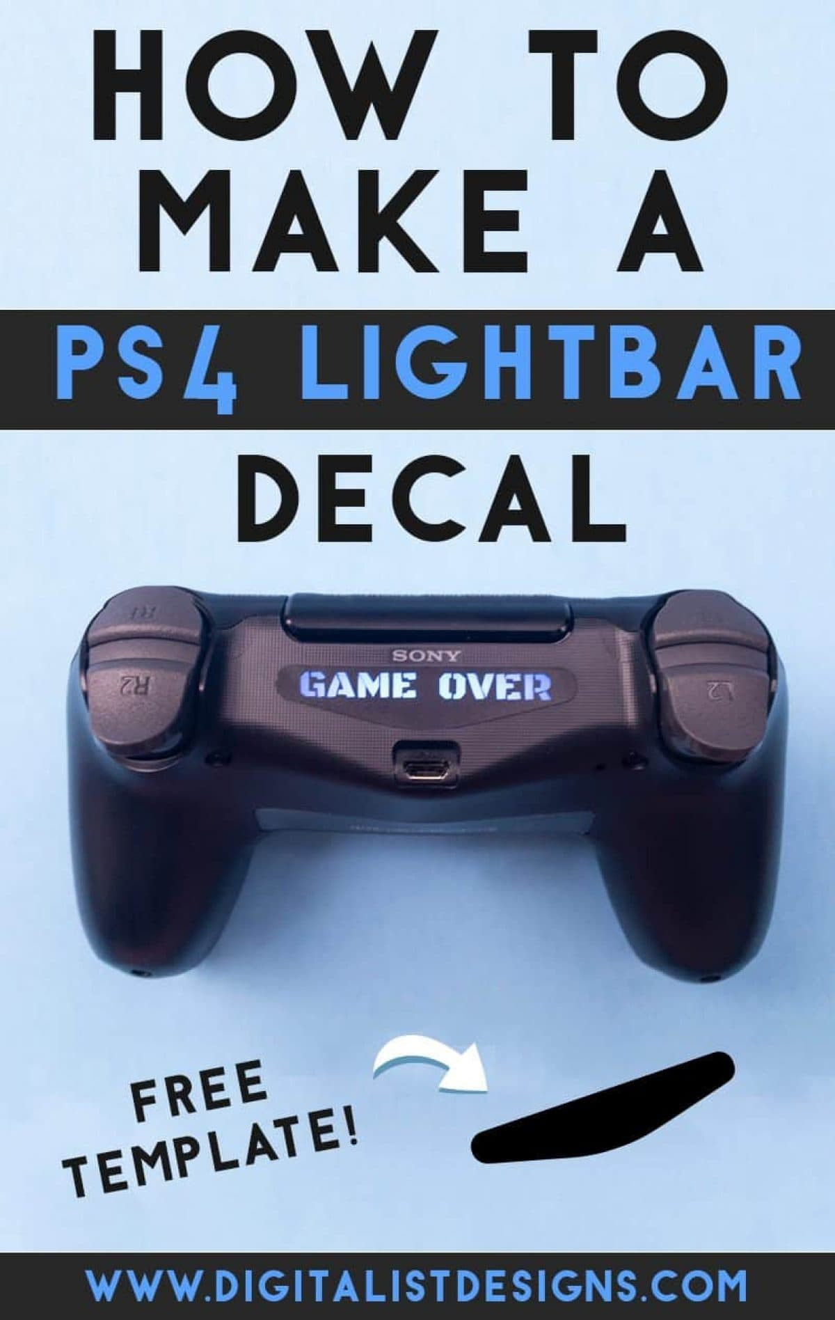 How to Make a Custom PS4 Controller Lightbar Decal