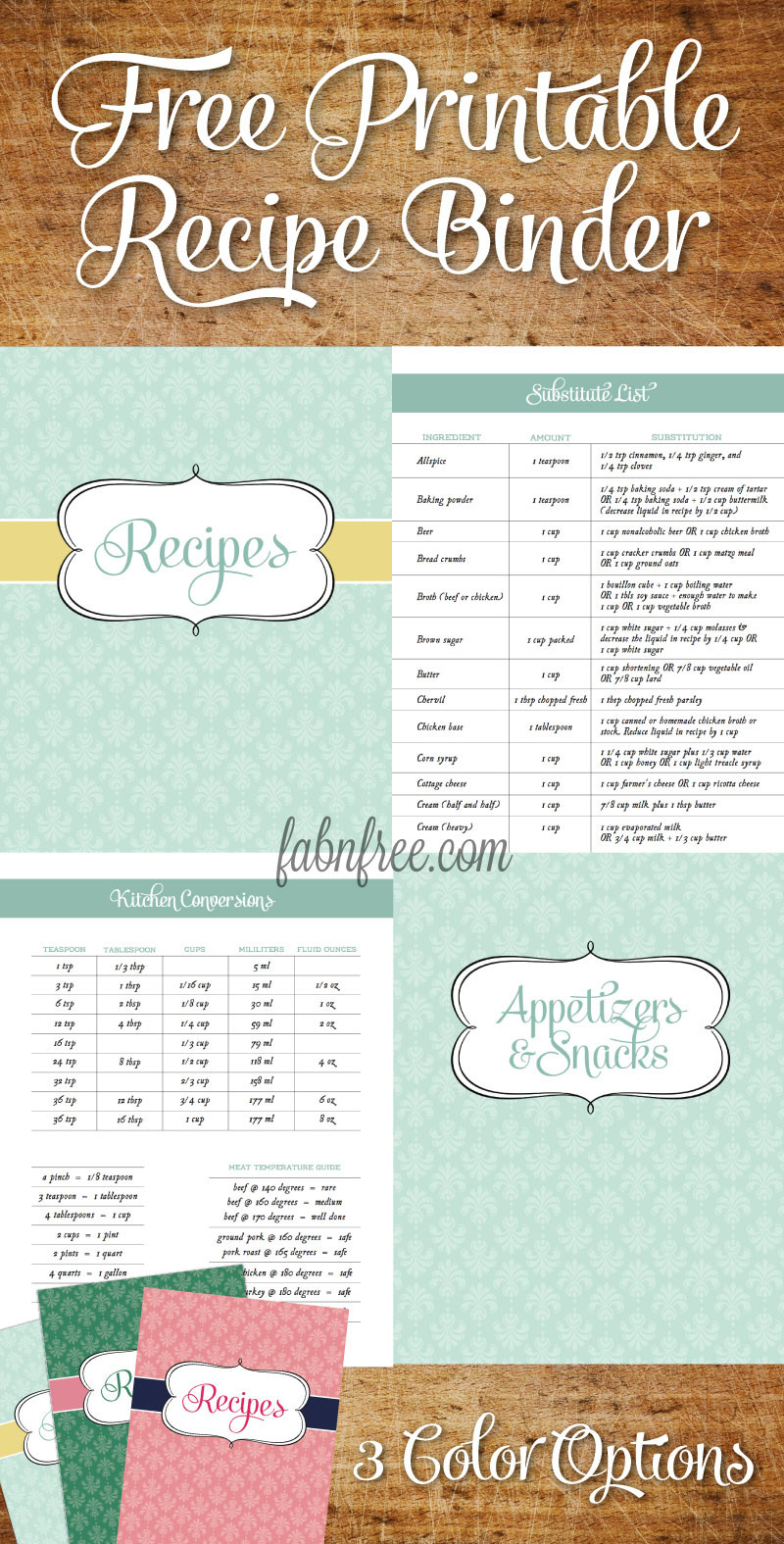 Recipe Template for Pages