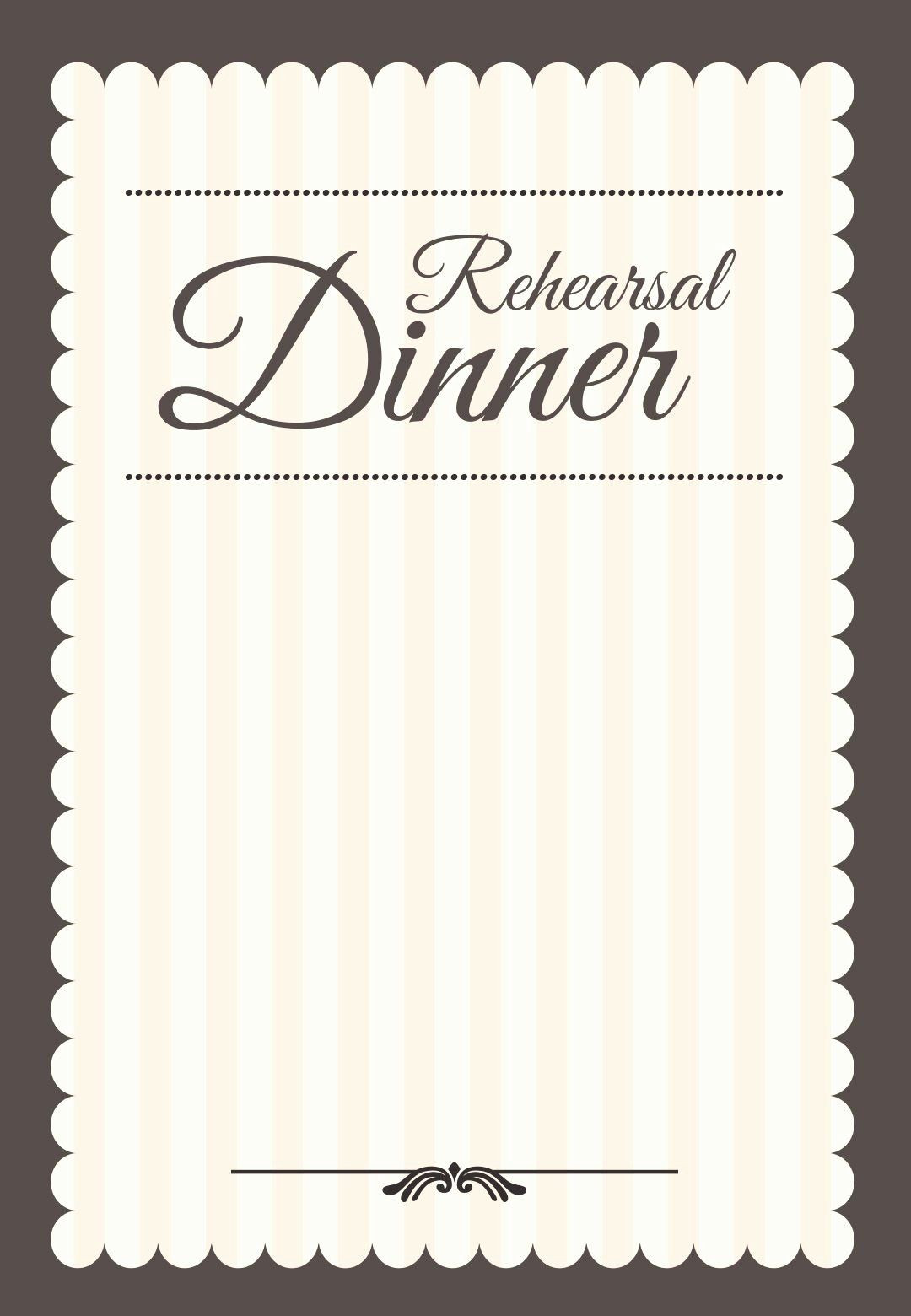 35 Wedding Rehearsal Dinner Invitation Template