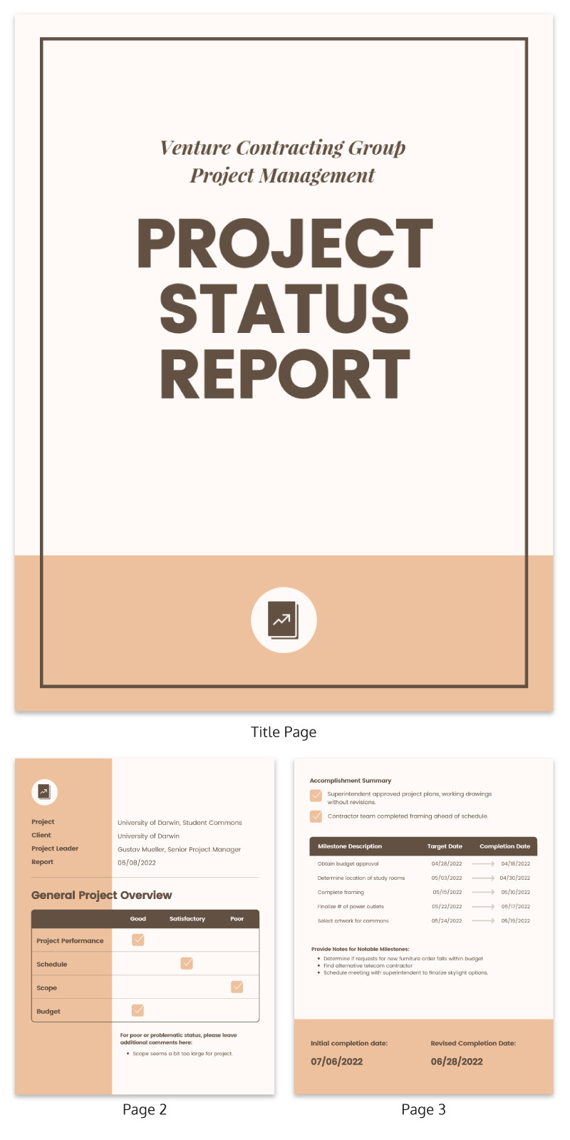 Report Card Template Word