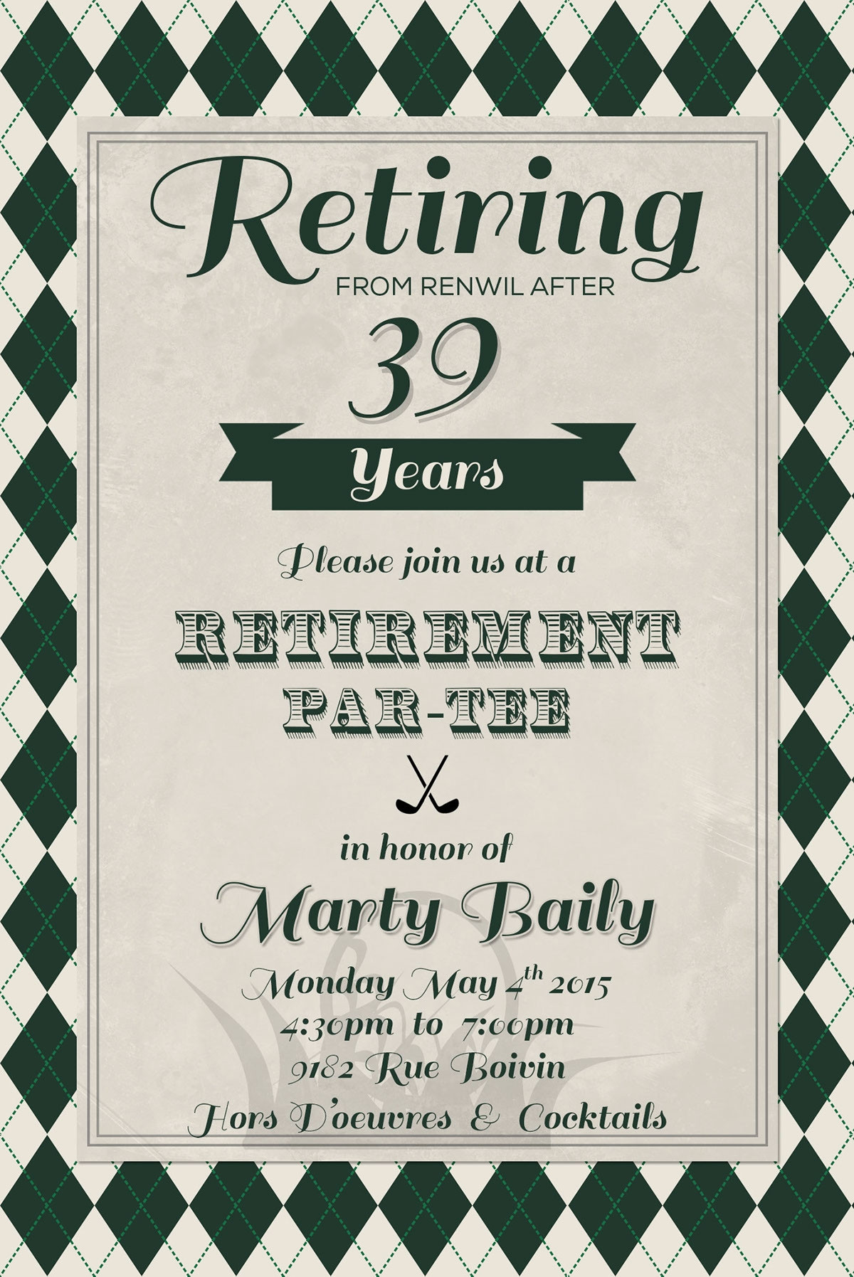 Retirement Flyer Template Free