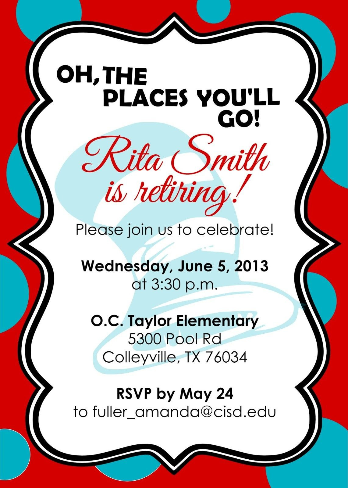 Retirement Party Invitations Template