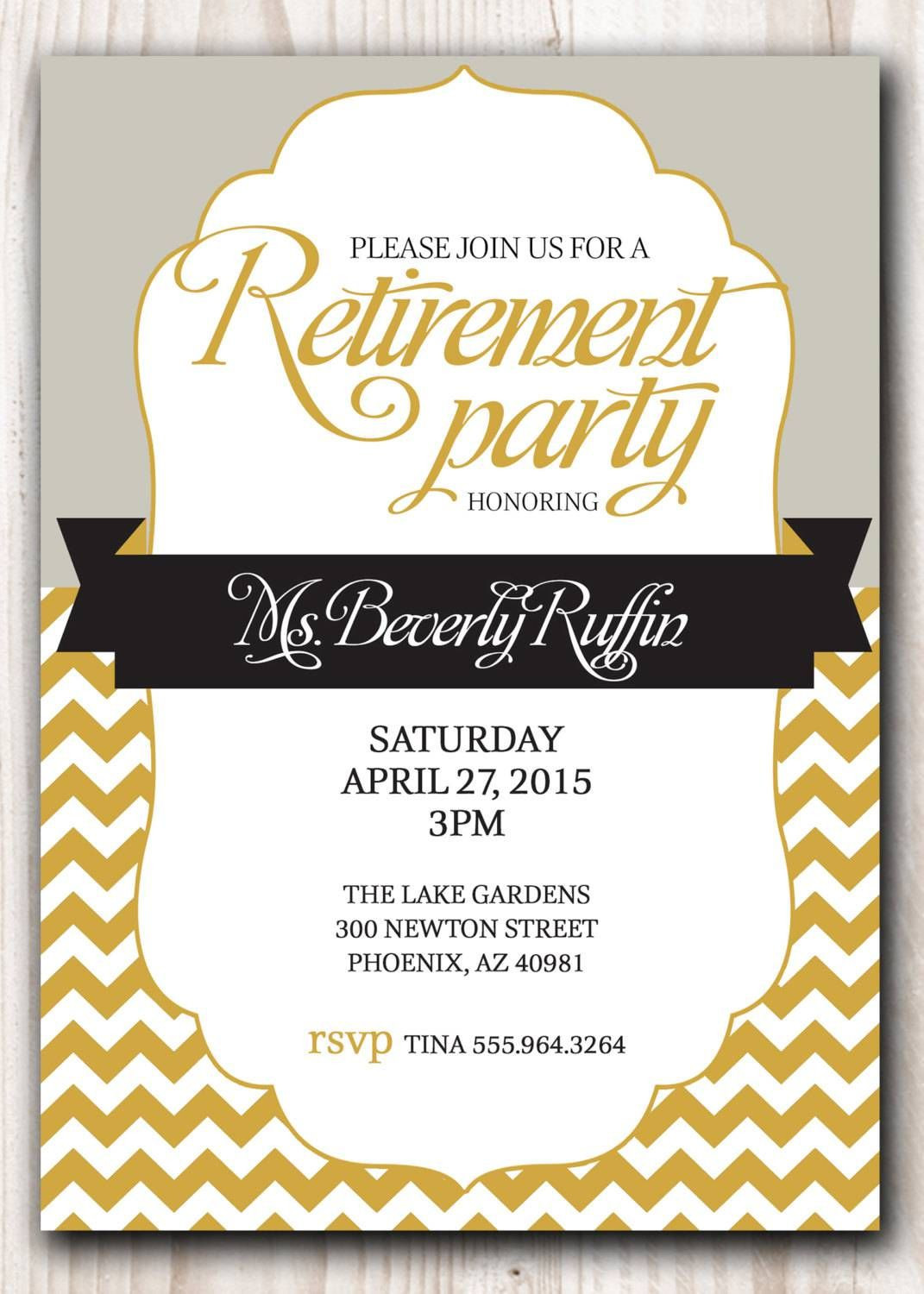 Retirement Party Invitation Template Microsoft