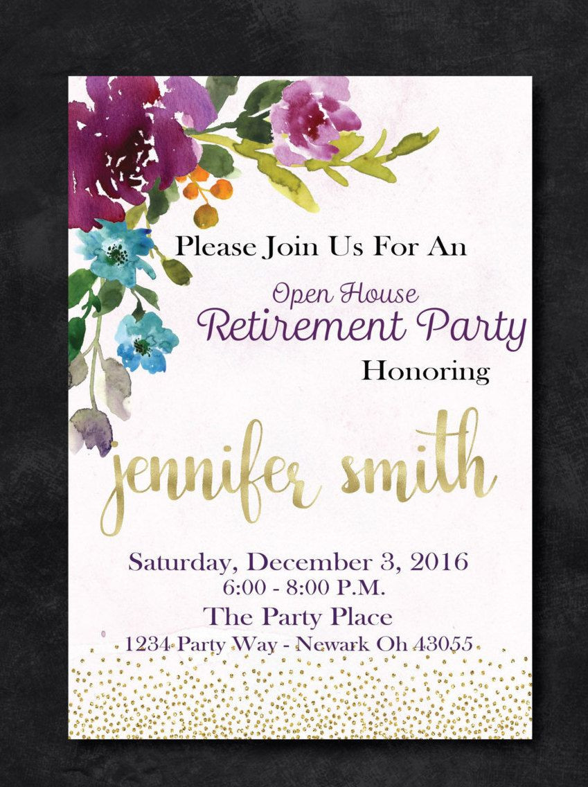 Retirement Party Invites Template