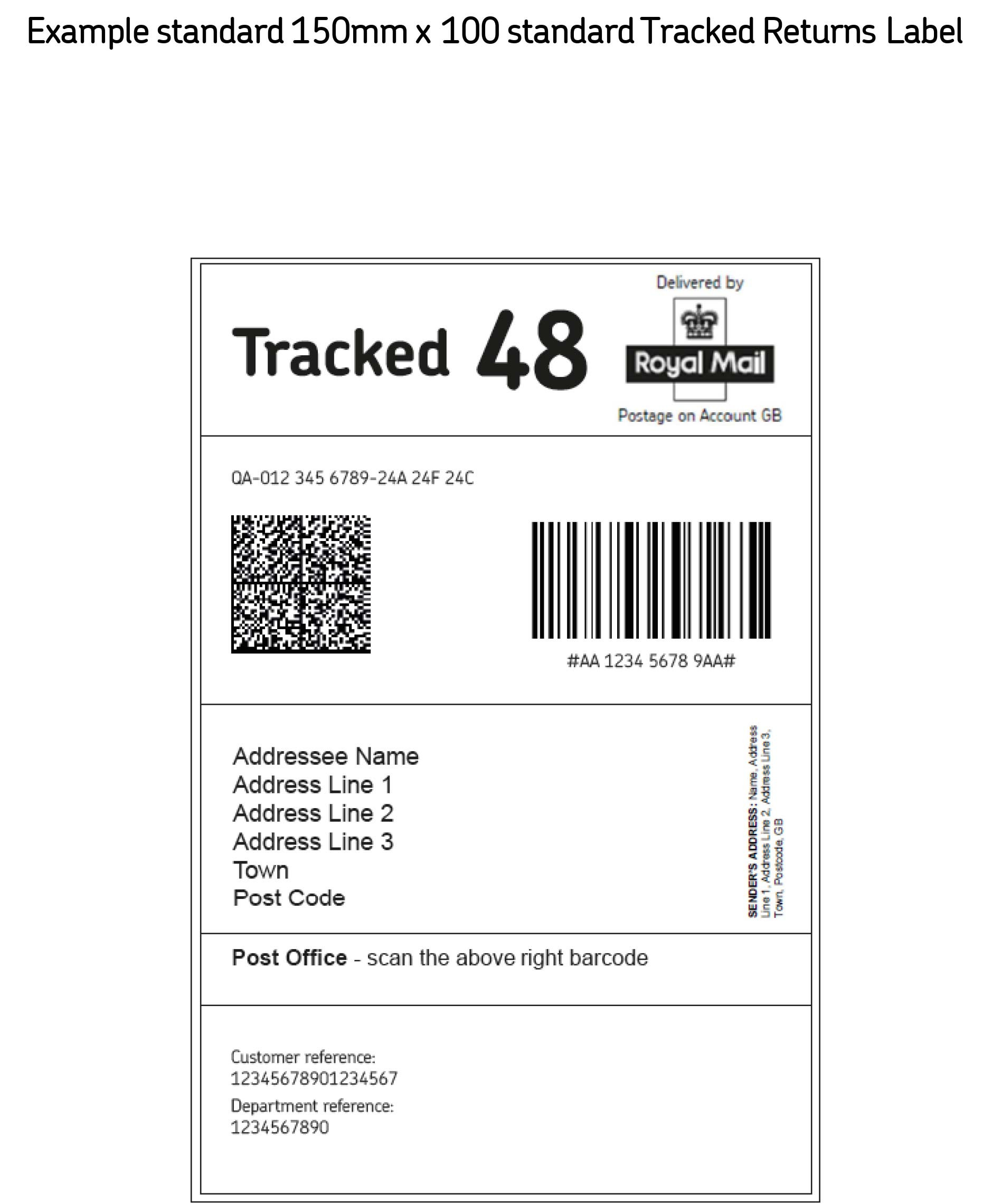 Return Address Labels Template