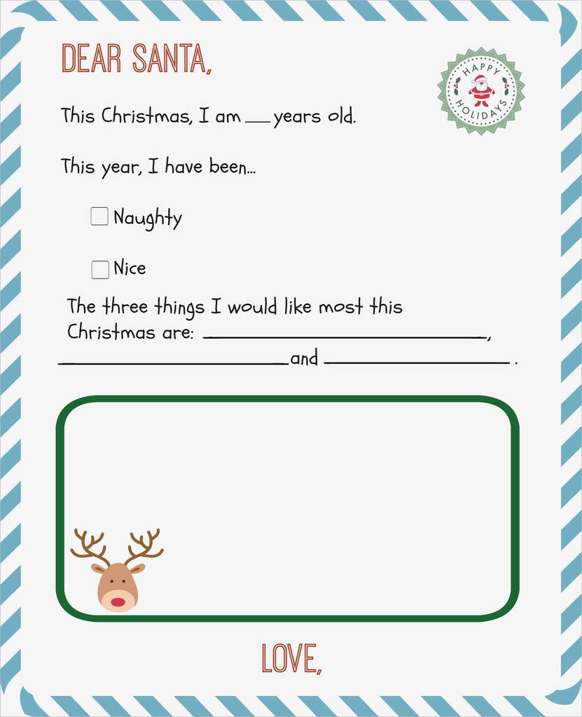 Secret Santa form Template