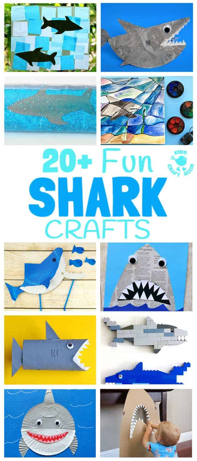 Shark Hat Craft Template