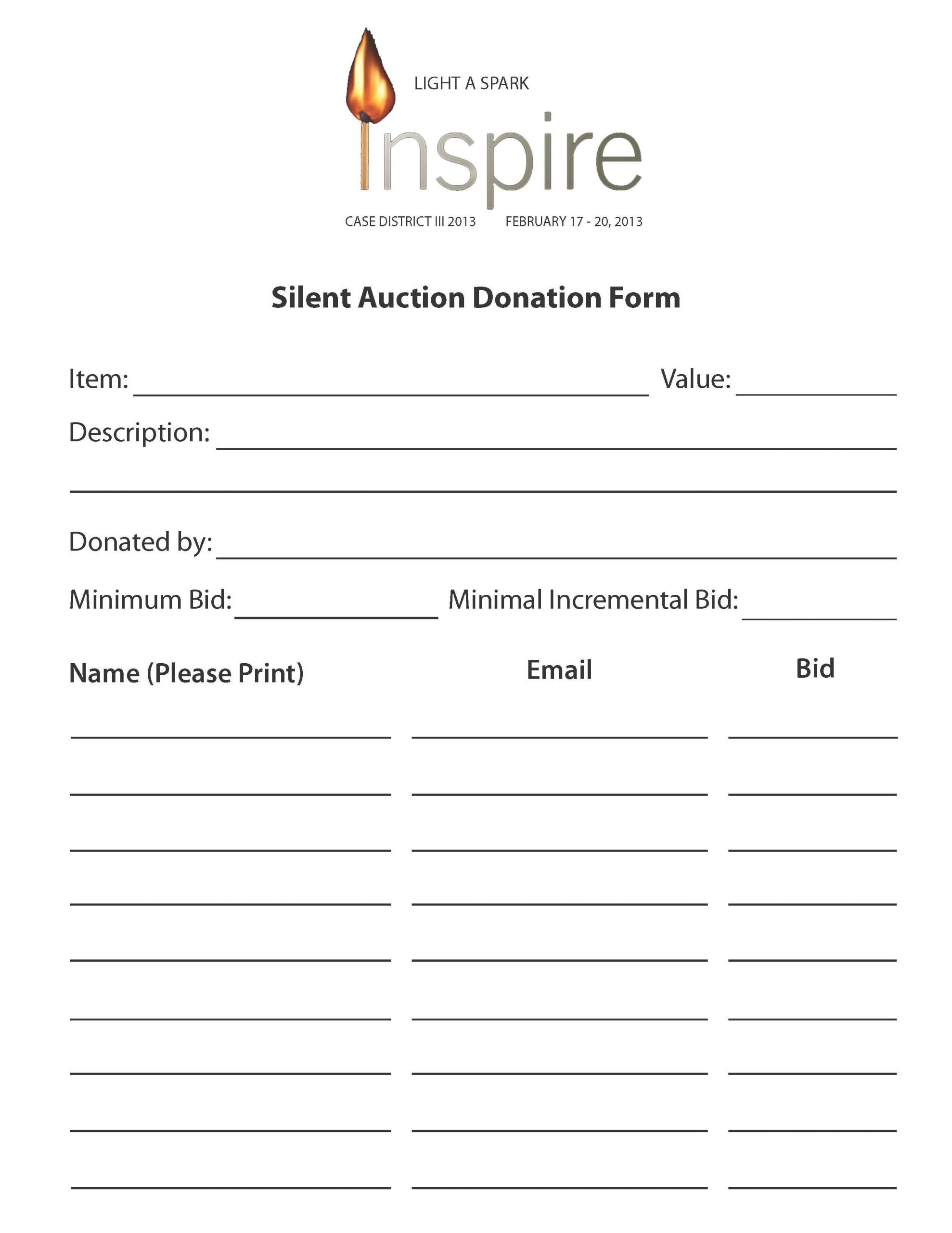 Silent Auction Certificate Template