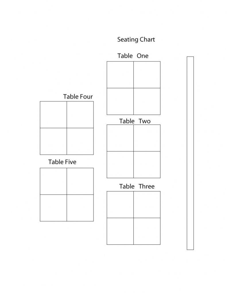 The Most Stylish table seating chart template