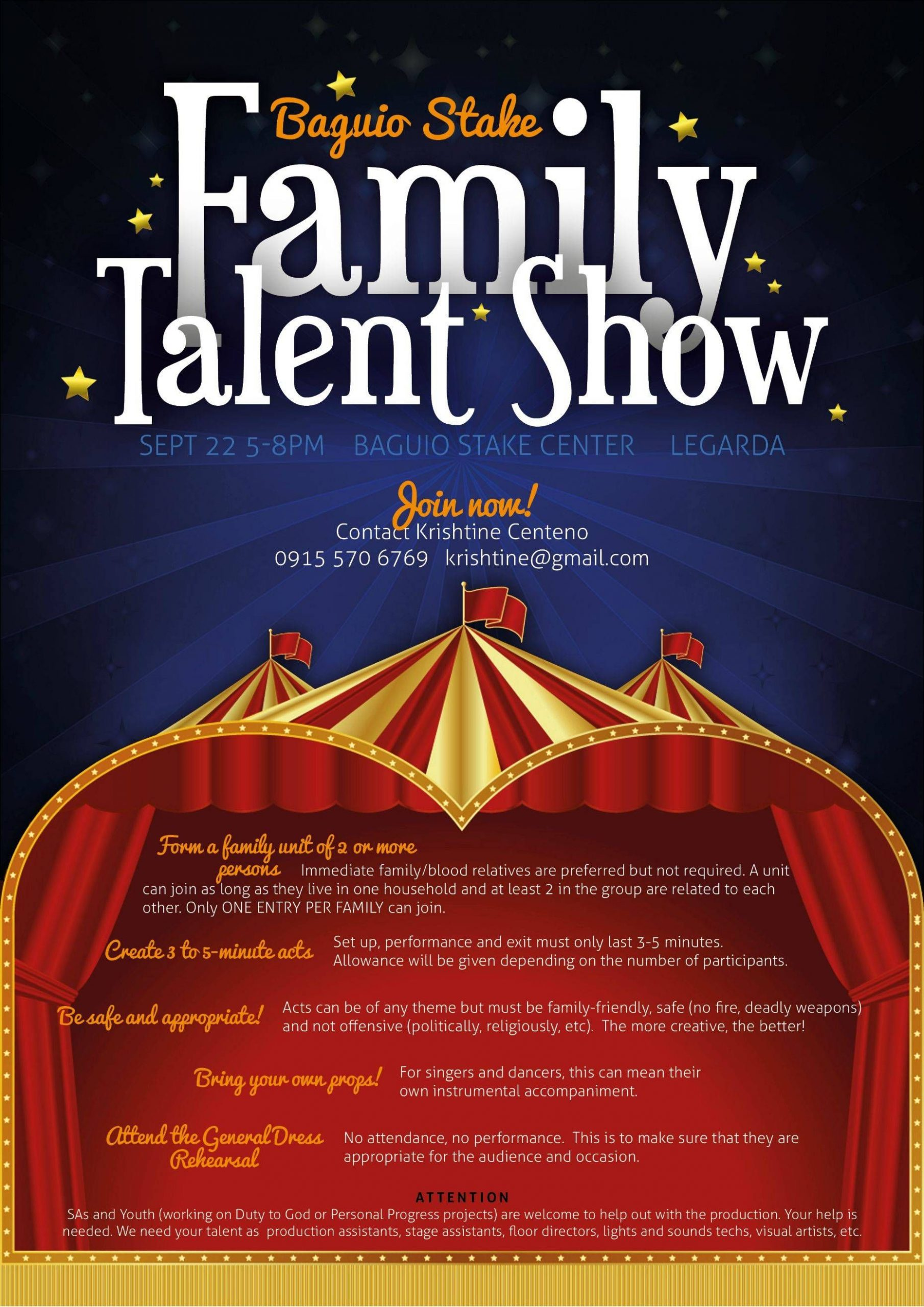 Talent Show Program Template