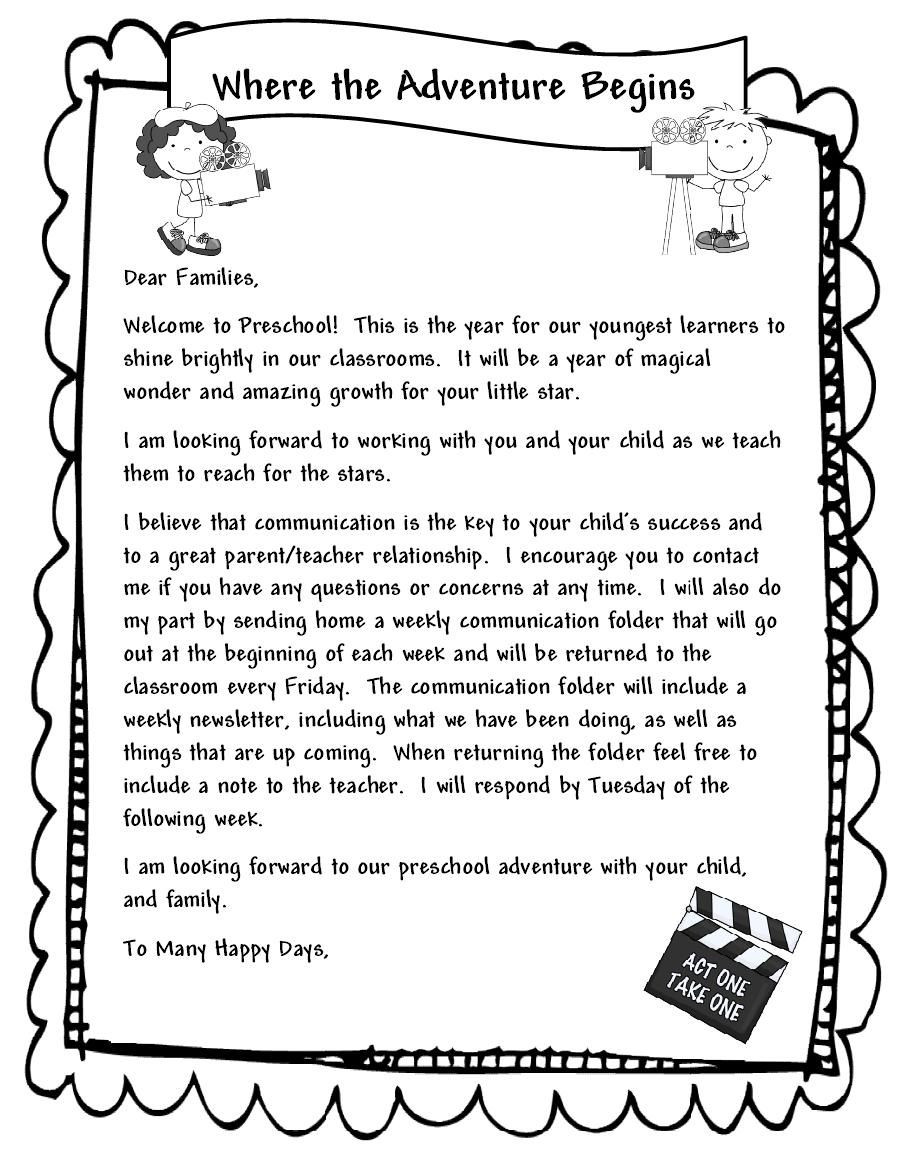 Teacher Welcome Letter Template