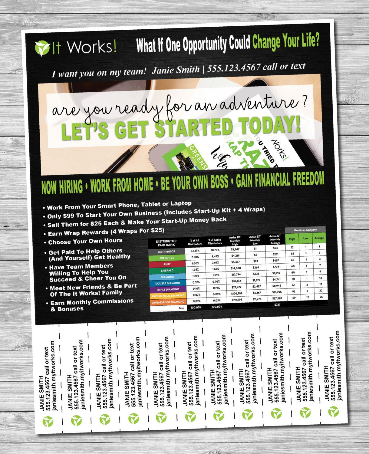 Tear Off Flyer Template