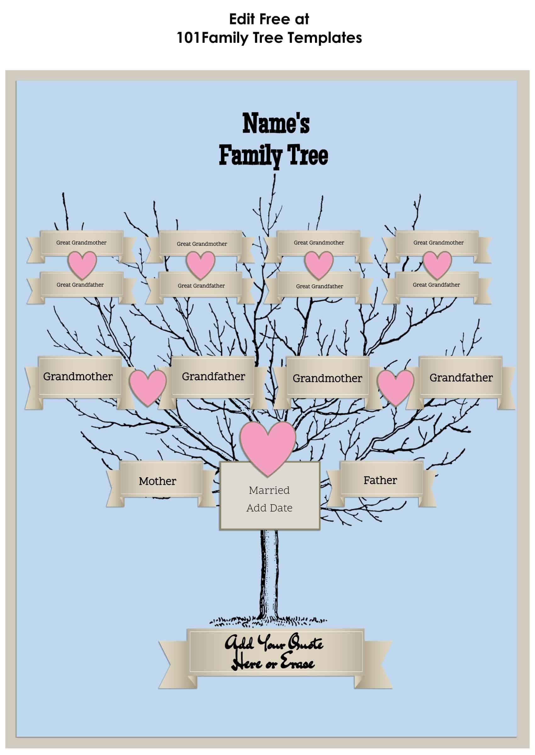 Template for Family Tree