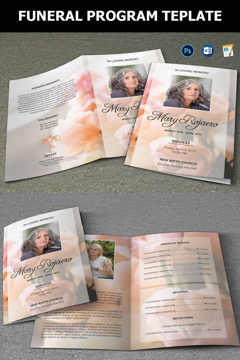 Template for Funeral Program