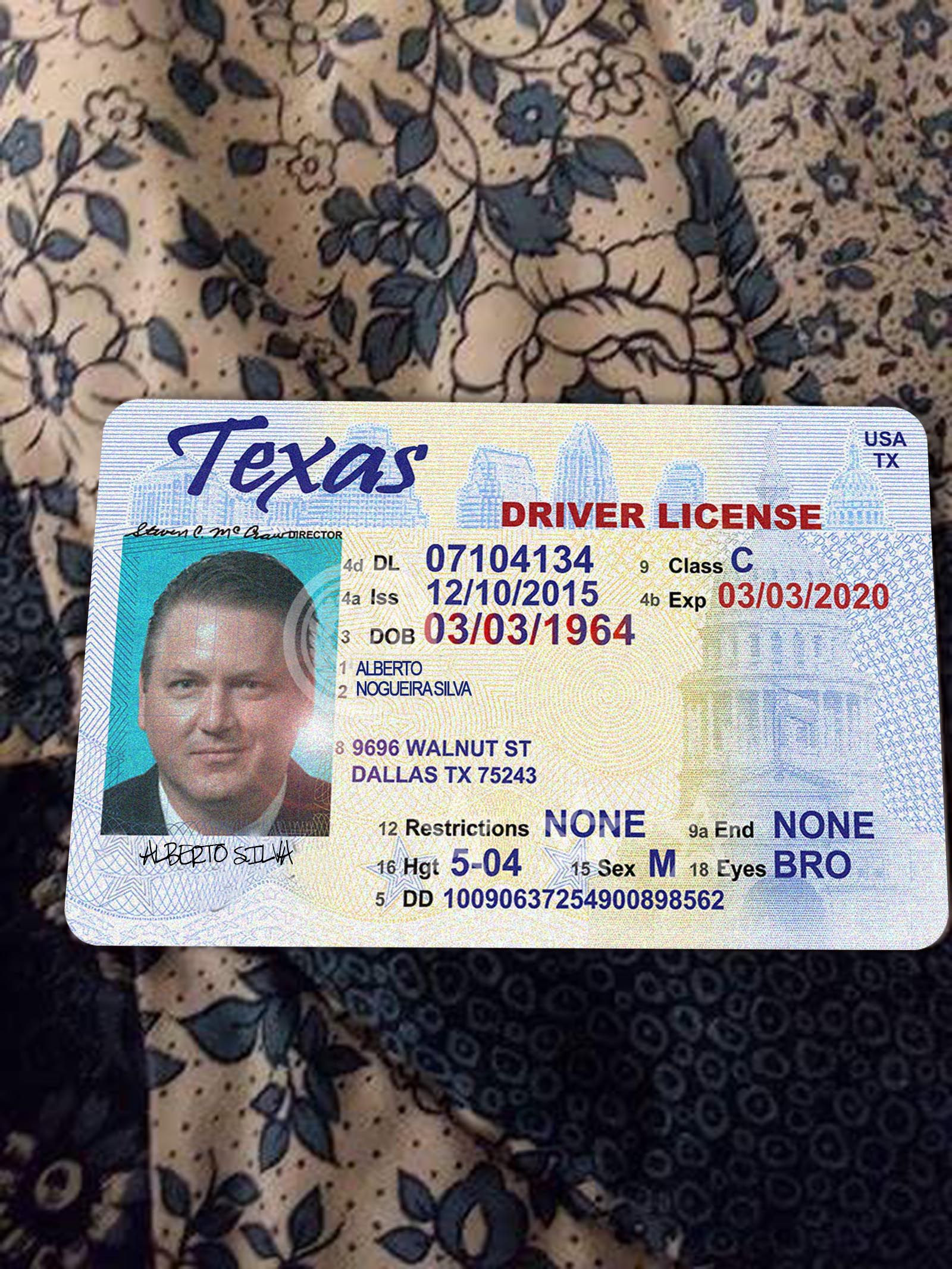 Texas Fake Id Template