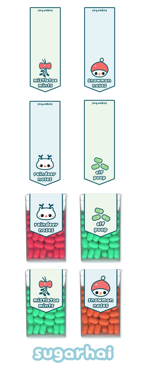 Tic Tac Labels Template