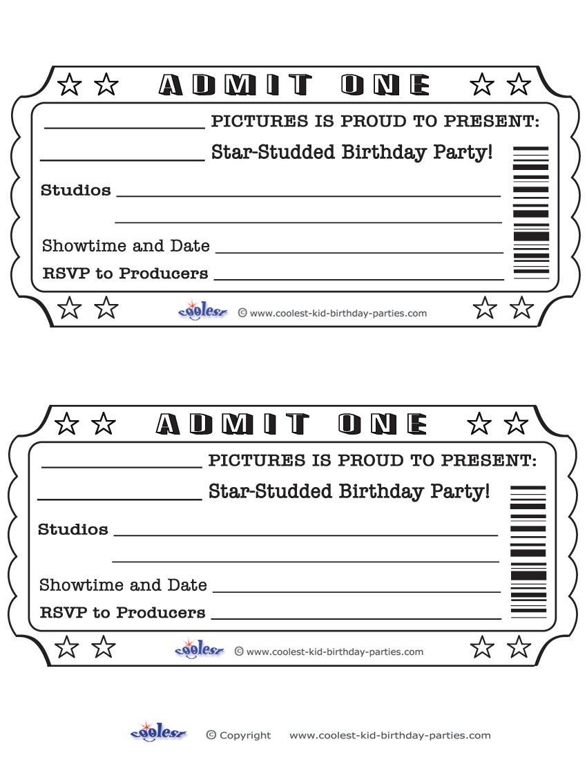 Ticket Invitation Template Free