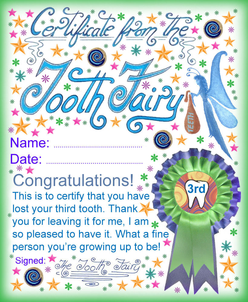 Tooth Fairy Letter Template