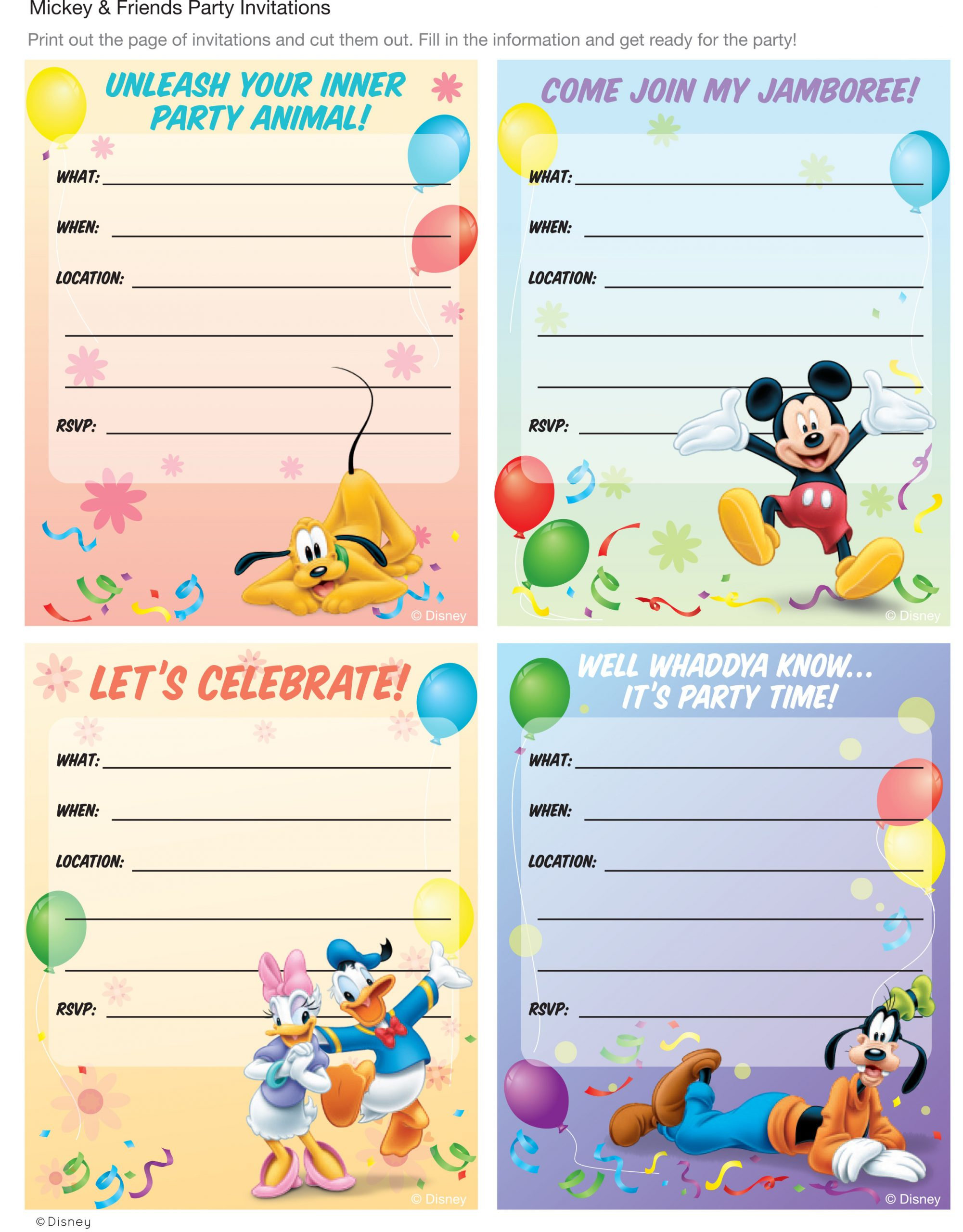 Toy Story Invitation Template