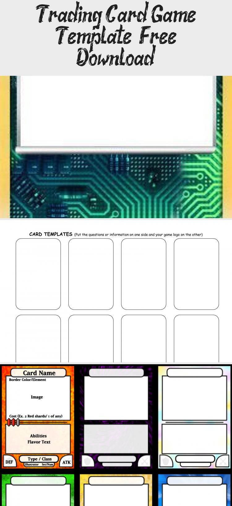 Trading Card Template Free