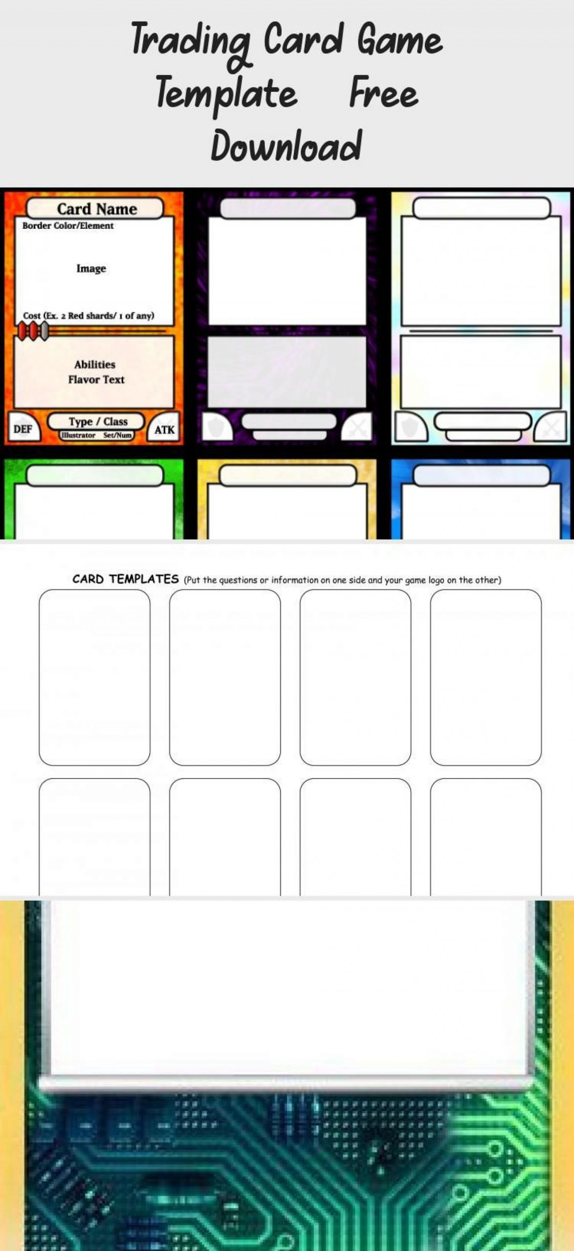 Trading Card Template Photoshop
