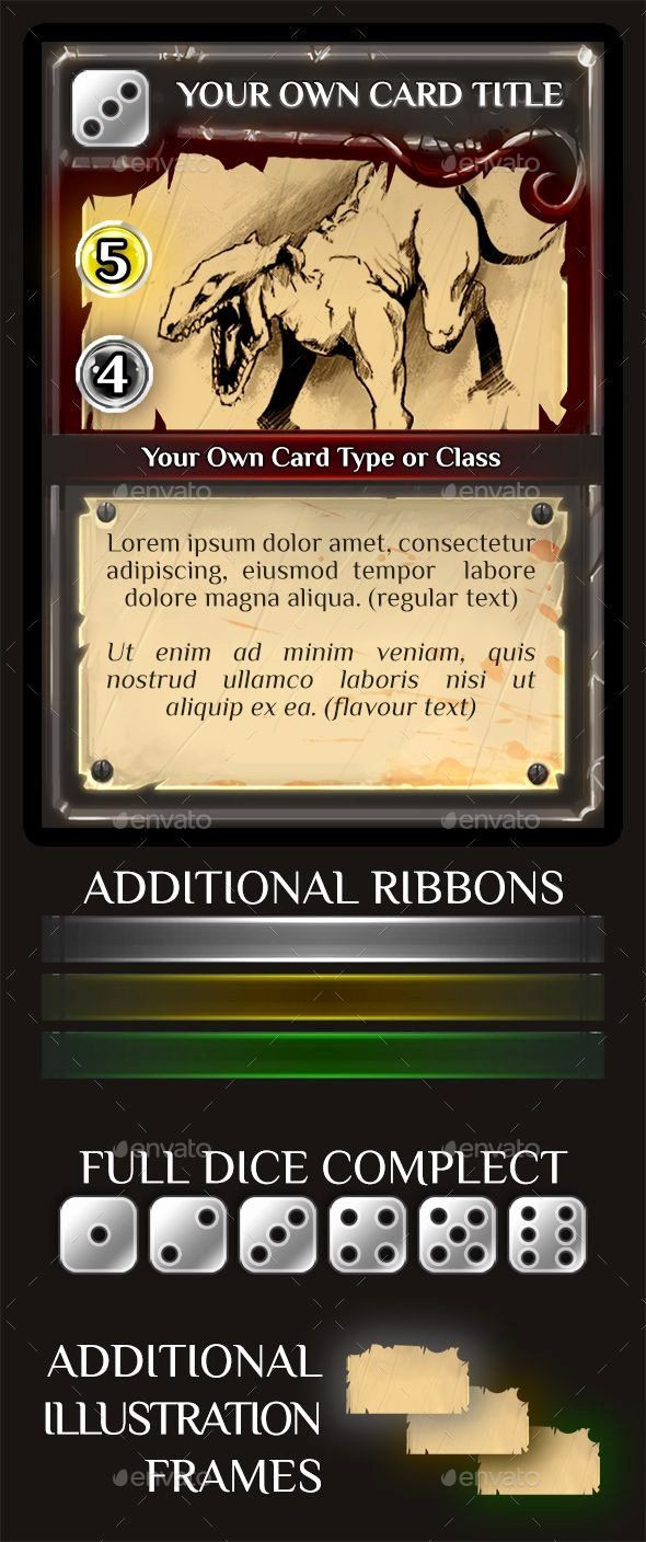 Trading Card Template shop in 2020