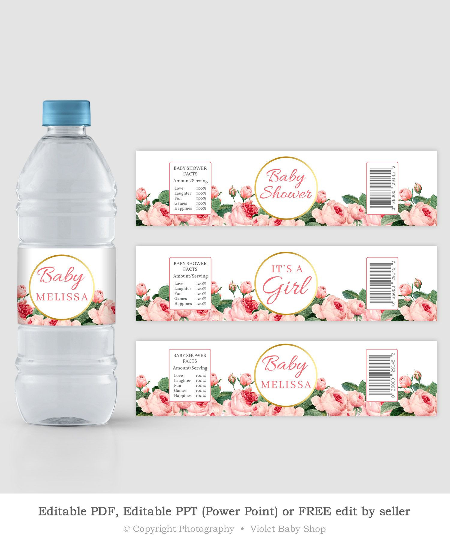 Water Bottle Label Template