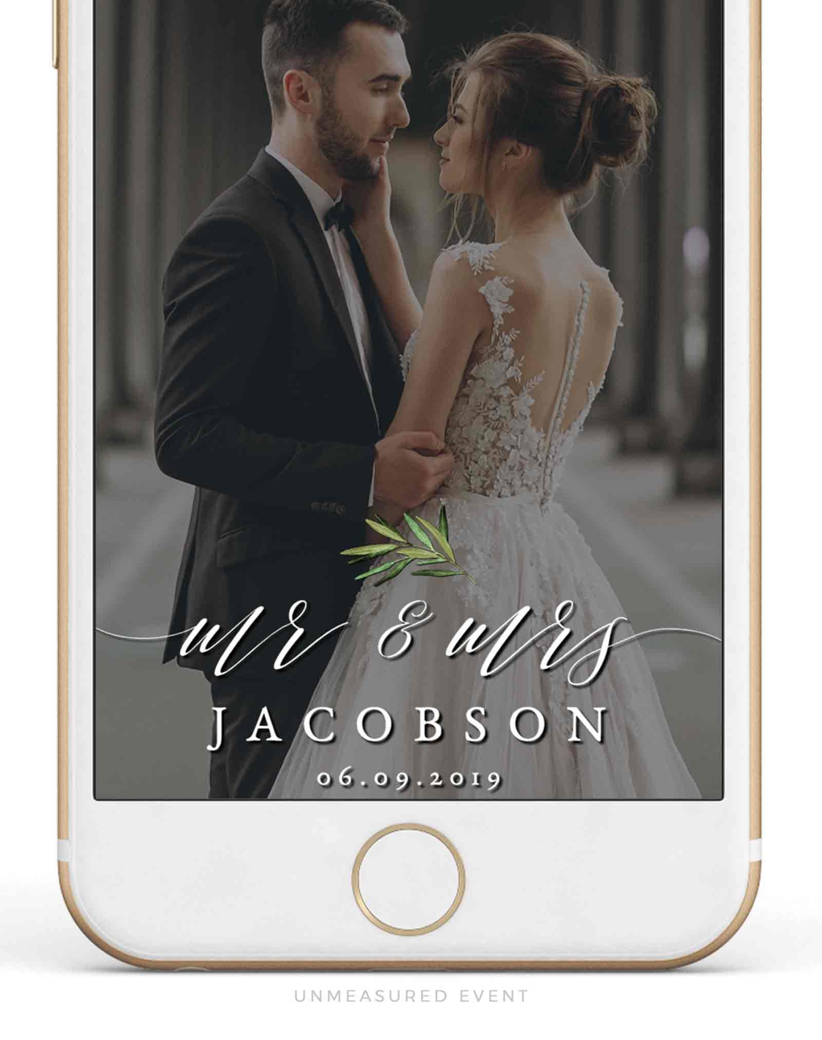 Wedding Snapchat Filter Template