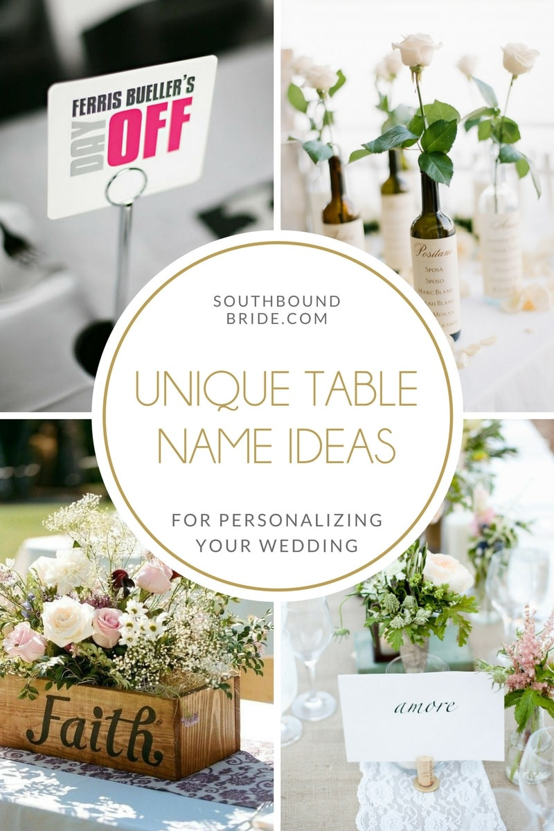 Wedding Table Number Template