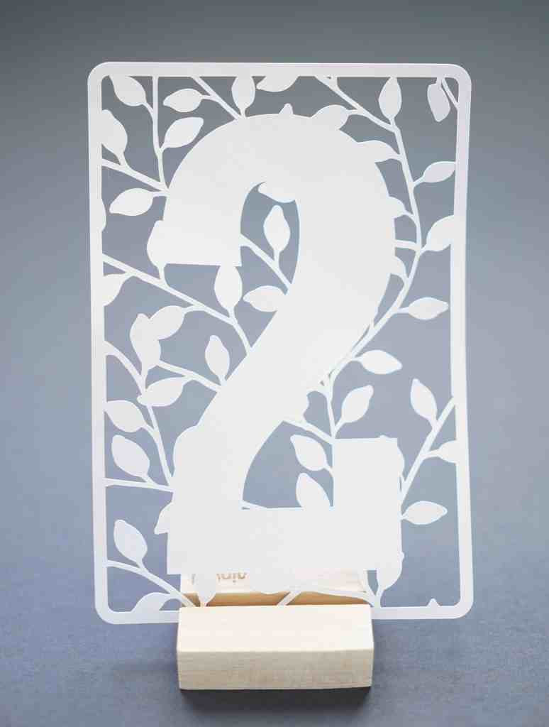 Wedding Table Numbers Template