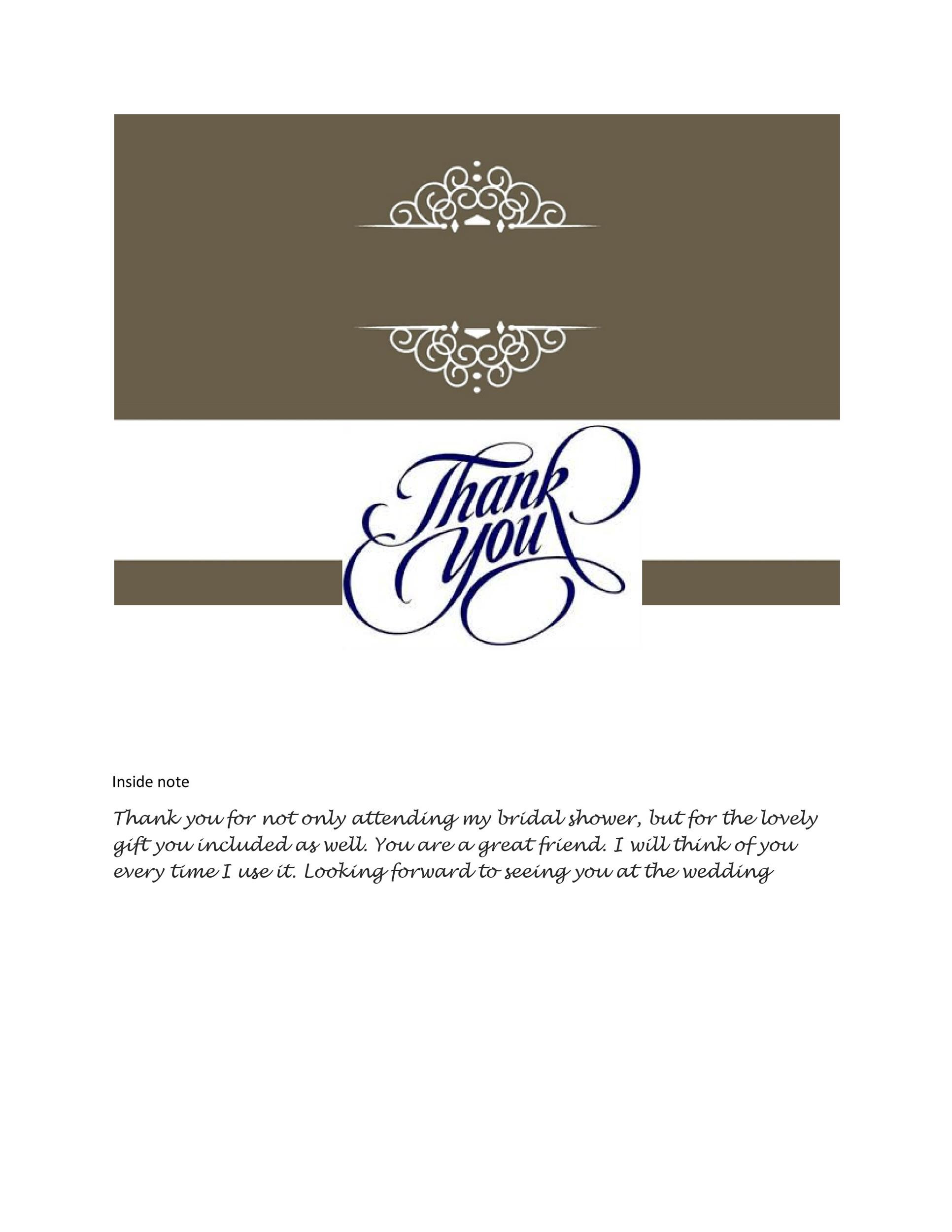 Wedding Thank You Template