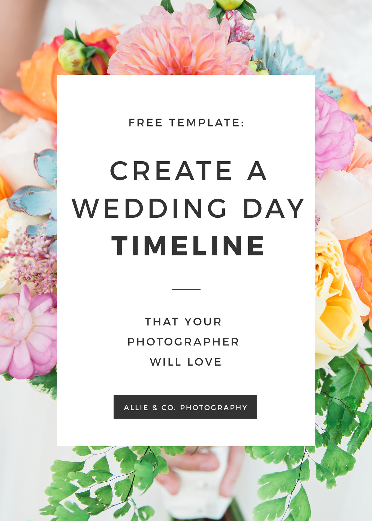Wedding Timeline Template Free