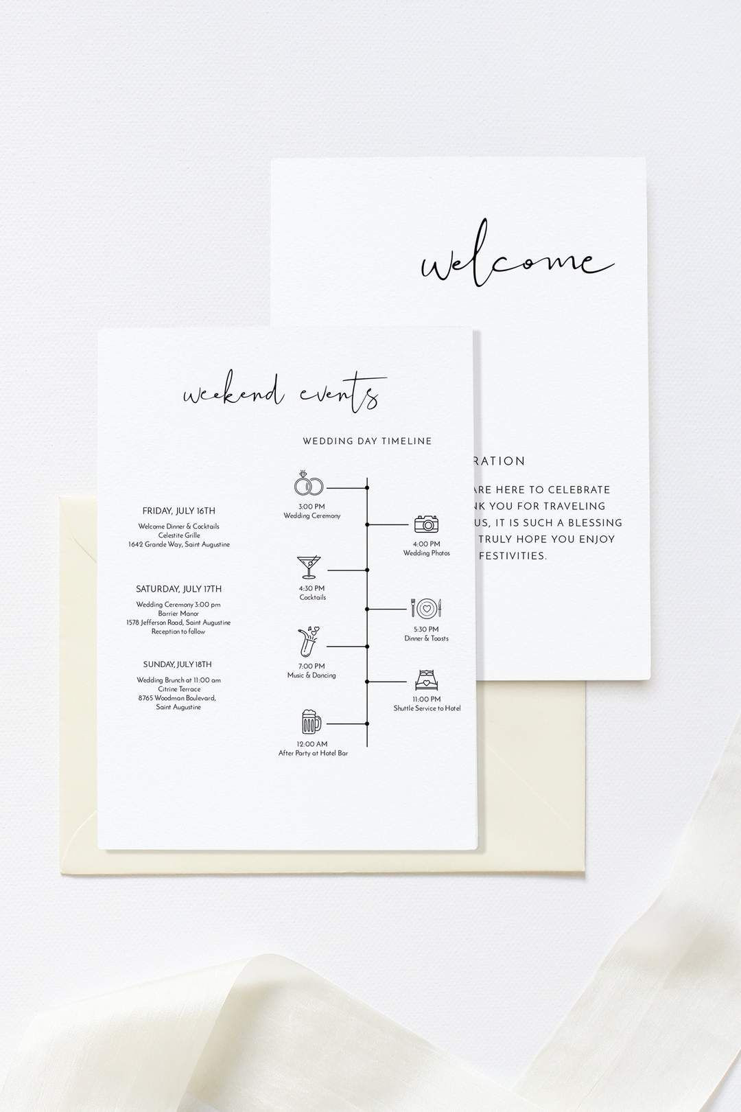 Wedding Welcome Letter Template