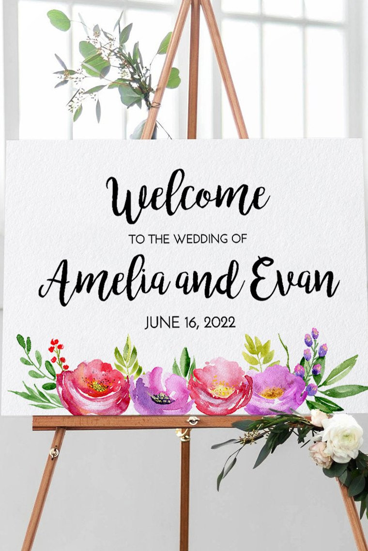 Wedding Welcome Sign Template