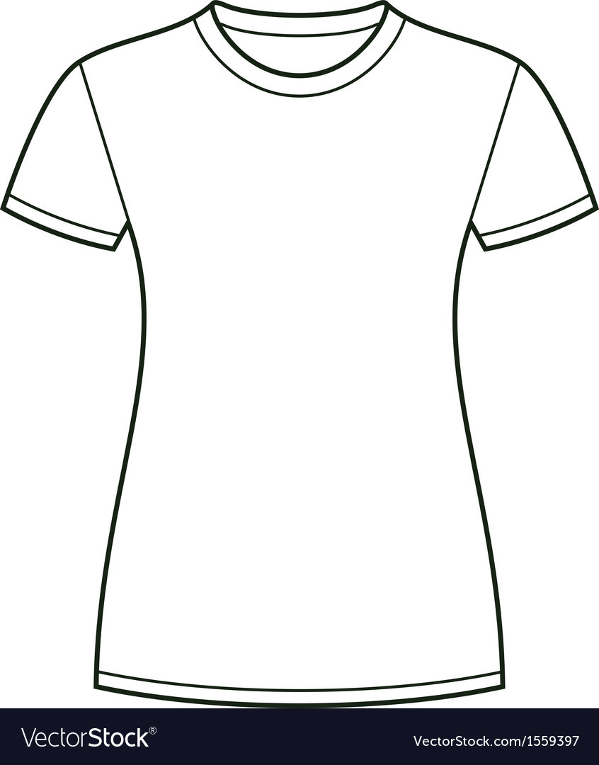 White t shirt design template