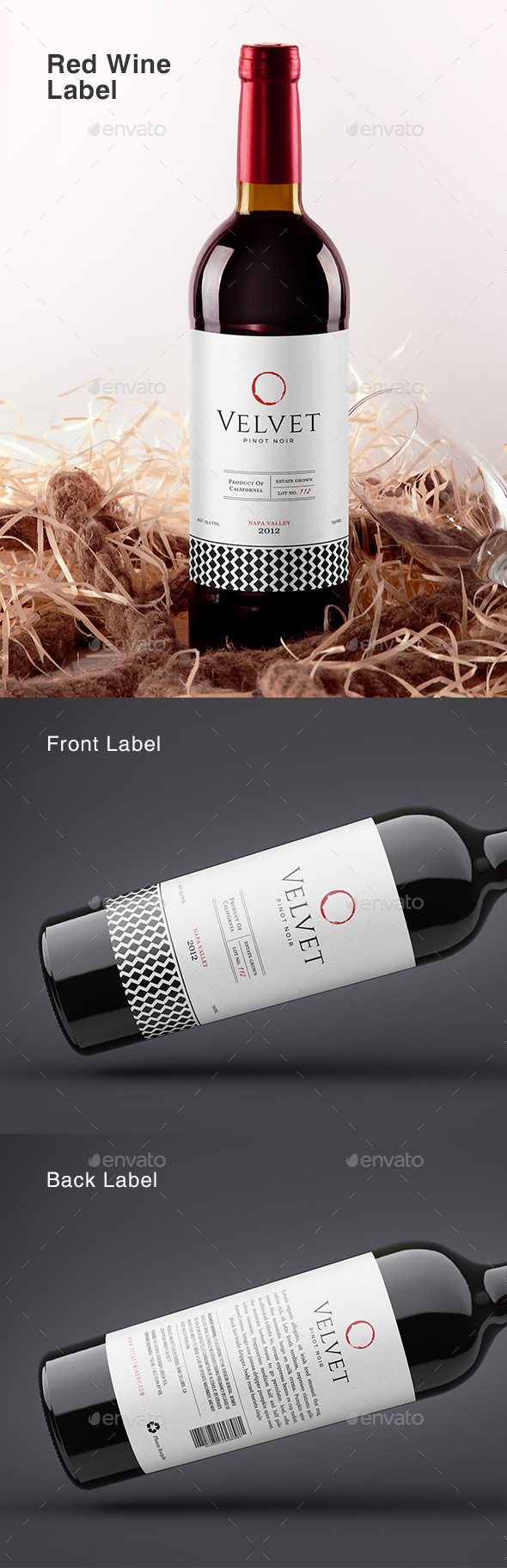 Wine Bottle Label Template