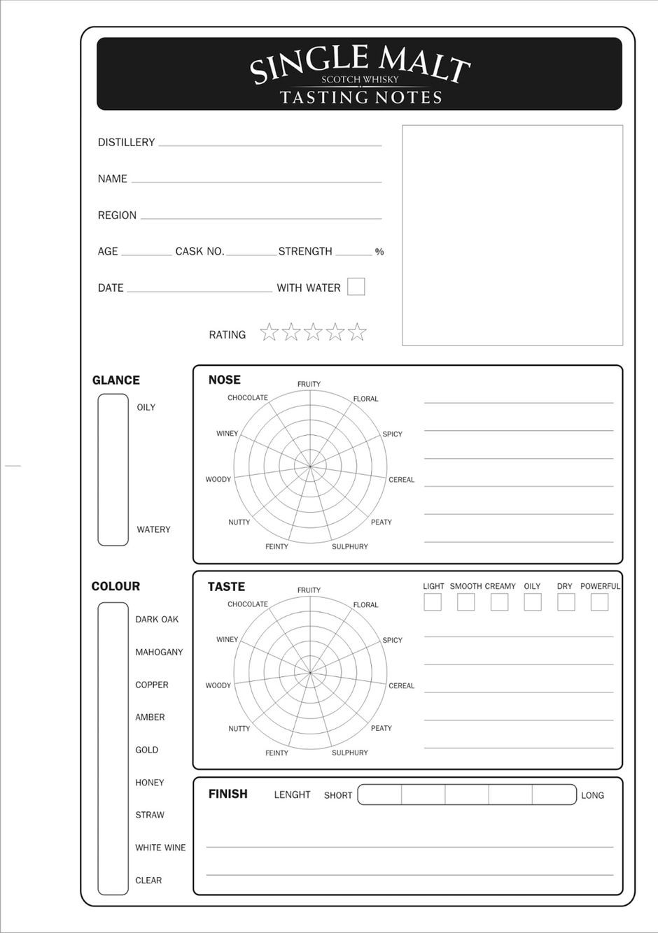 Wine Tasting Notes Template