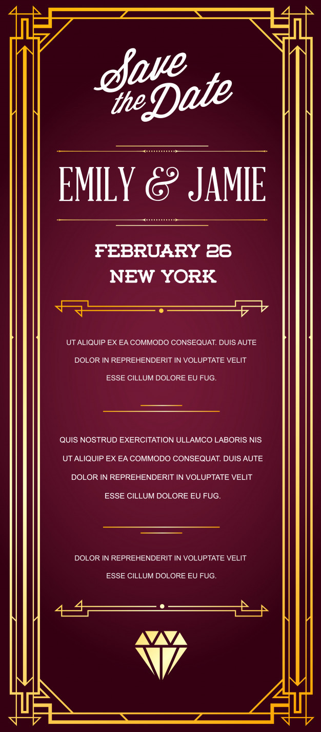 1920s Invitation Template Free