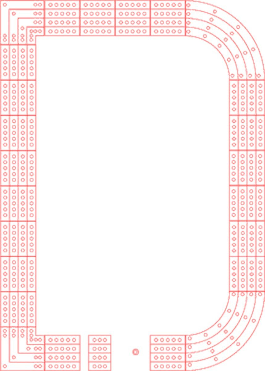 29 Cribbage Board Template