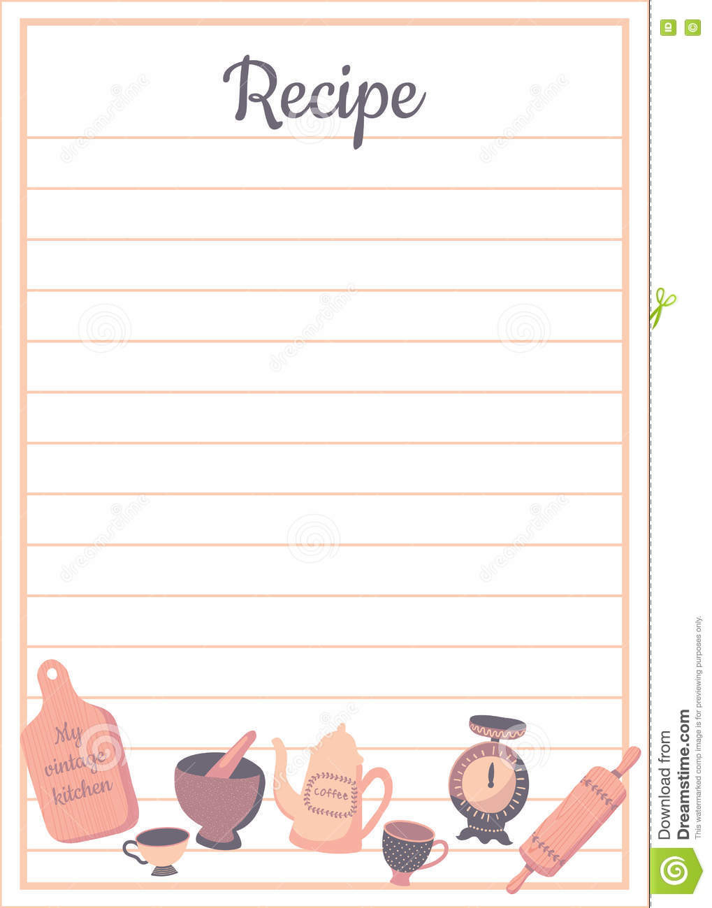3x5 Recipe Card Template