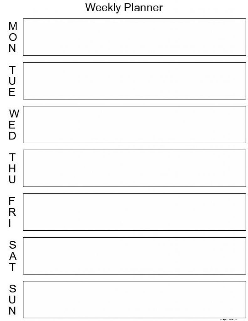 Get Blank 7 Day Week Calendar ⋆ The Best Printable Calendar