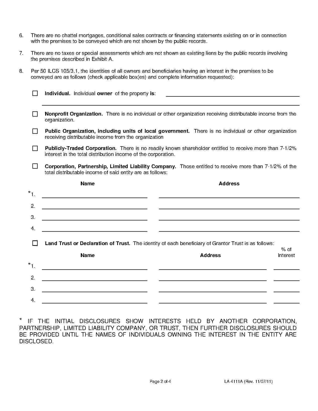 Affidavit Of Ownership Template