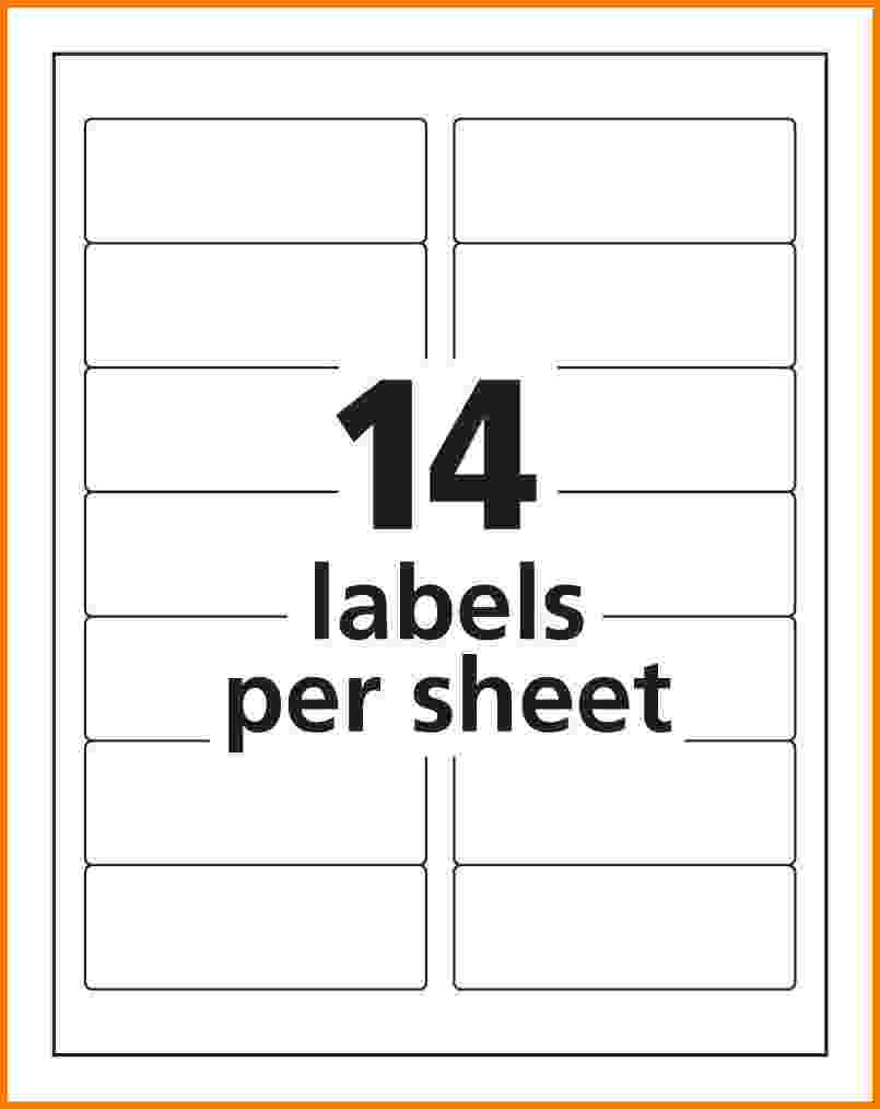 Avery Label Template 5162