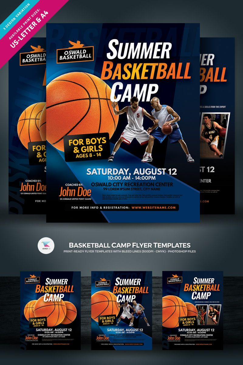 Basketball Camp Flyer Corporate Identity Template
