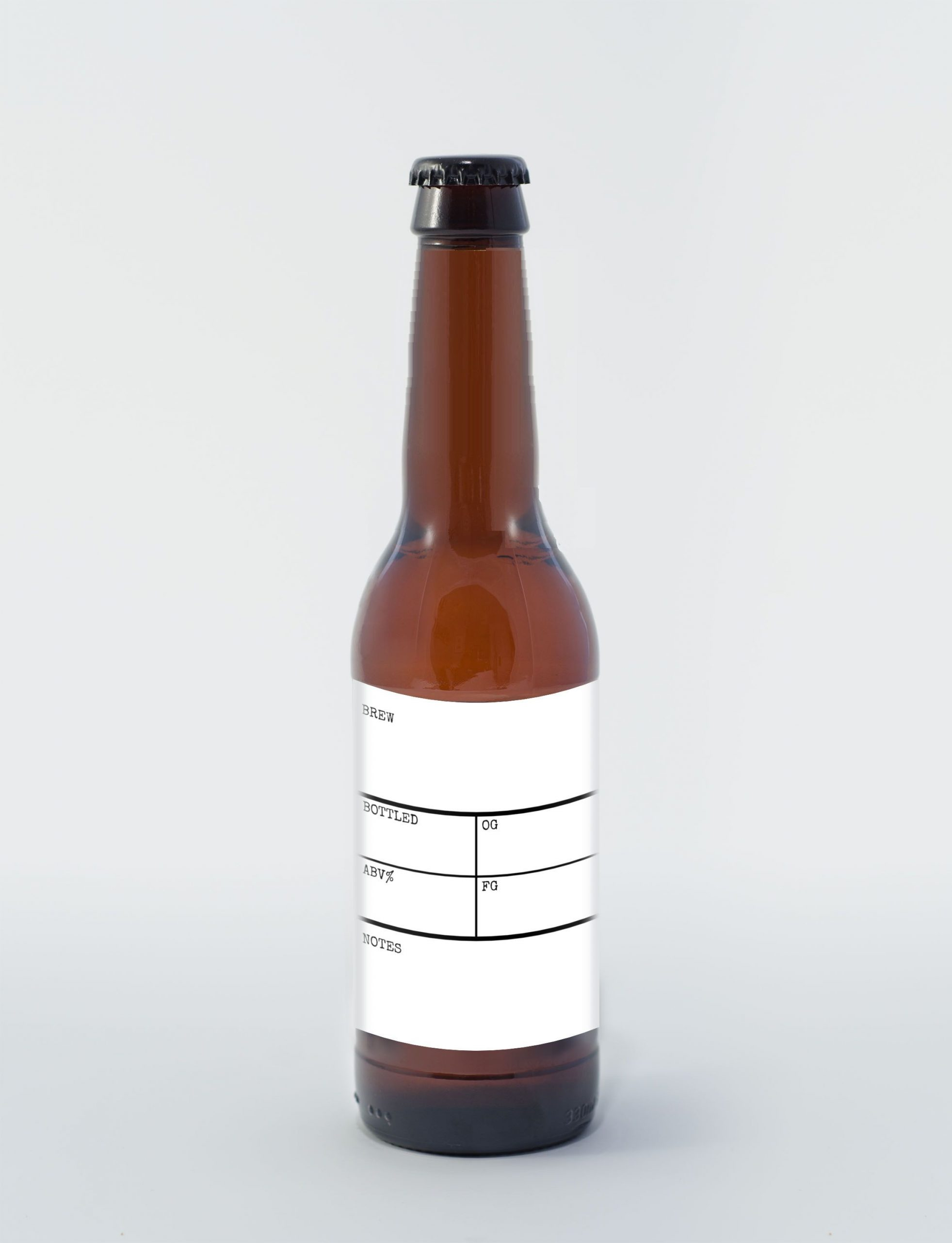 Write in beer bottle label template FREE