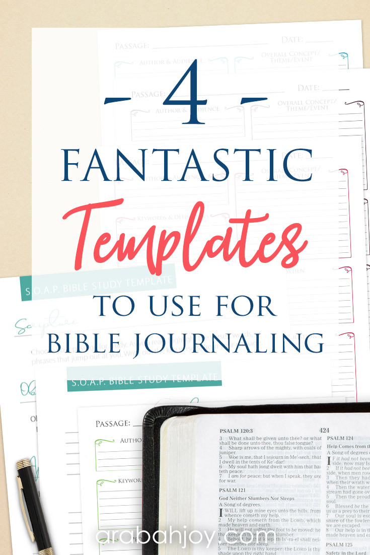 Bible Study Journal Template