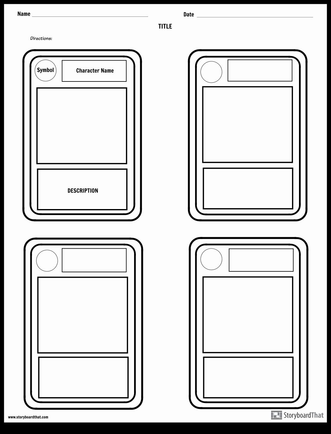 Blank Trading Card Template